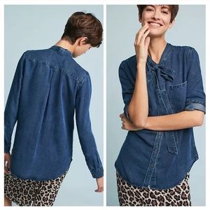 Rails Rosalee Tie Neck Chambray Shirt